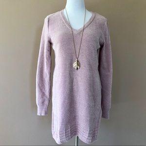 Mauve chenille tunic sweater NWT